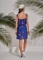 Morhipo Beach Desenli Elbise Mavi